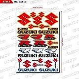 KUNGFU GRAPHICS カンフー グラフィックス SUZUKI スズキ レーシングスポンサーロゴ マイクロデカールシート (レッド)