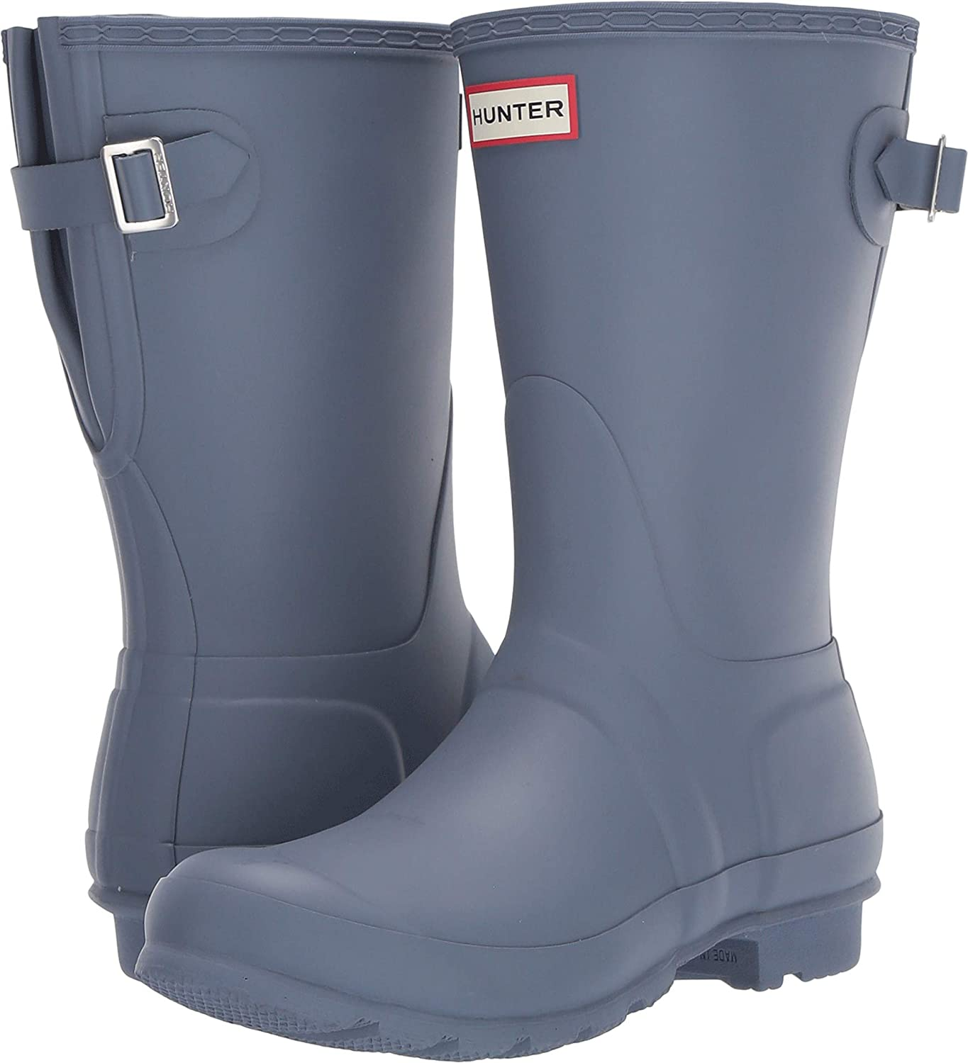 Gull Grey Hunter Boots Women's Original Back Adjustable Short Rain Boot