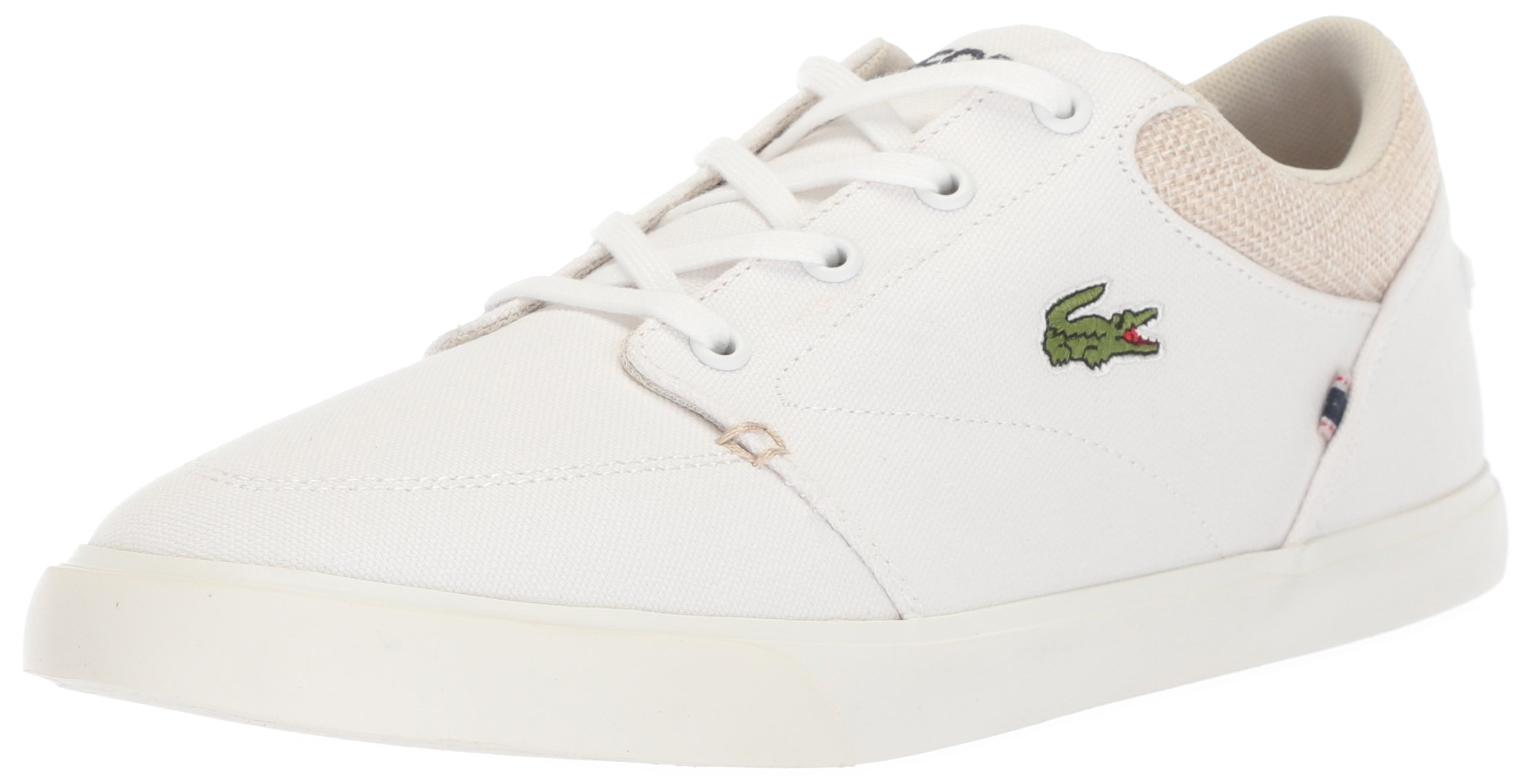 Lacoste Men's Bayliss Sneaker, White Canvas, 8 M US