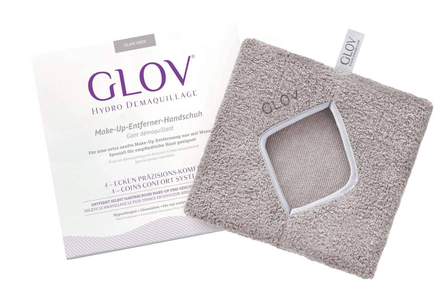 GLOV Comfort Cleansing Glove Glam Gray - The bigger in size GLOV will be perfect to remove make up from neck or chest - The special 4-corners design will help you remove your make up