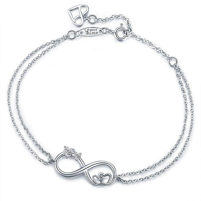 Eternal Love Pet Bracelet Silver Plated Bracelet with Eternity Heart Paw /& Bones