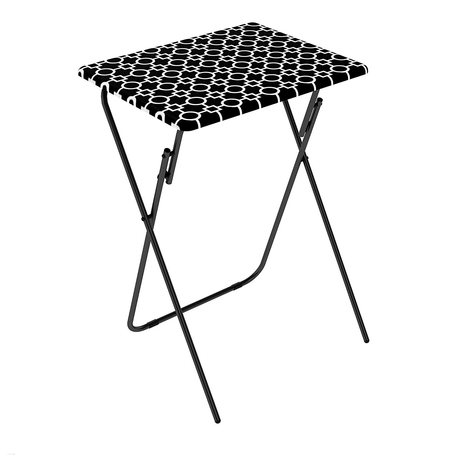Amazon.com: Atlantic 2 Pack TV Tray, Park Place In Black White: Kitchen U0026  Dining