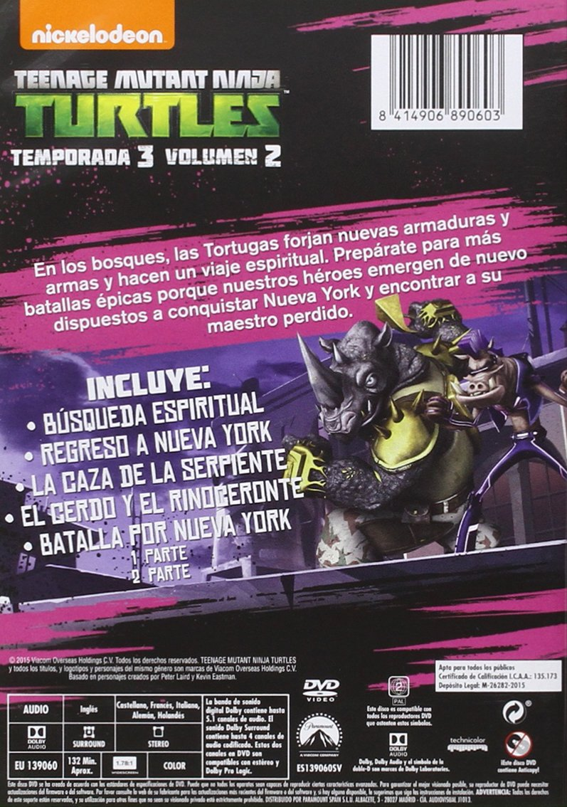 Tortugas Ninja: Regreso A Nueva York - Temporada 3, Volumen ...