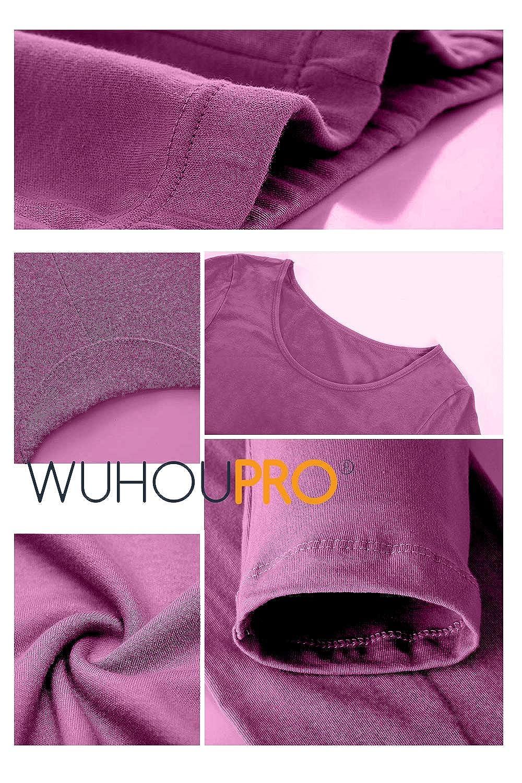 WUHOUPRO Womens Ultra Soft Microfiber Fleece Thermal Underwear Long Johns