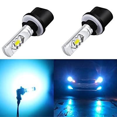 Alla Lighting 3800lm 899 880 LED Fog Light Bulbs Xtreme Super Bright 892 880 LED Bulb ETI 56-SMD LED 880 Bulb for Auto Motorcycle Cars Trucks SUV Fog DRL Lights, 8000K Ice Blue: Automotive