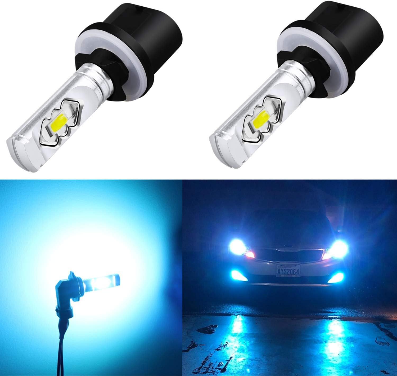 Alla Lighting 3800lm 899 880 LED Fog Light Bulbs Xtreme Super Bright 892 880 LED Bulb ETI 56-SMD LED 880 Bulb for Auto Motorcycle Cars Trucks SUV Fog DRL Lights, 8000K Ice Blue