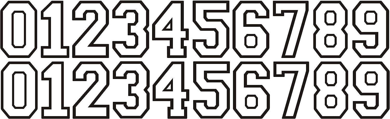 """Hockey Football Softball  Lacrosse Baseball Helmet Thick Numbers Stickers 1.65 /"""""""