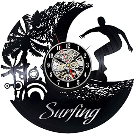 Surfing/_Exclusive wall clock made of vinyl record/_GIFT