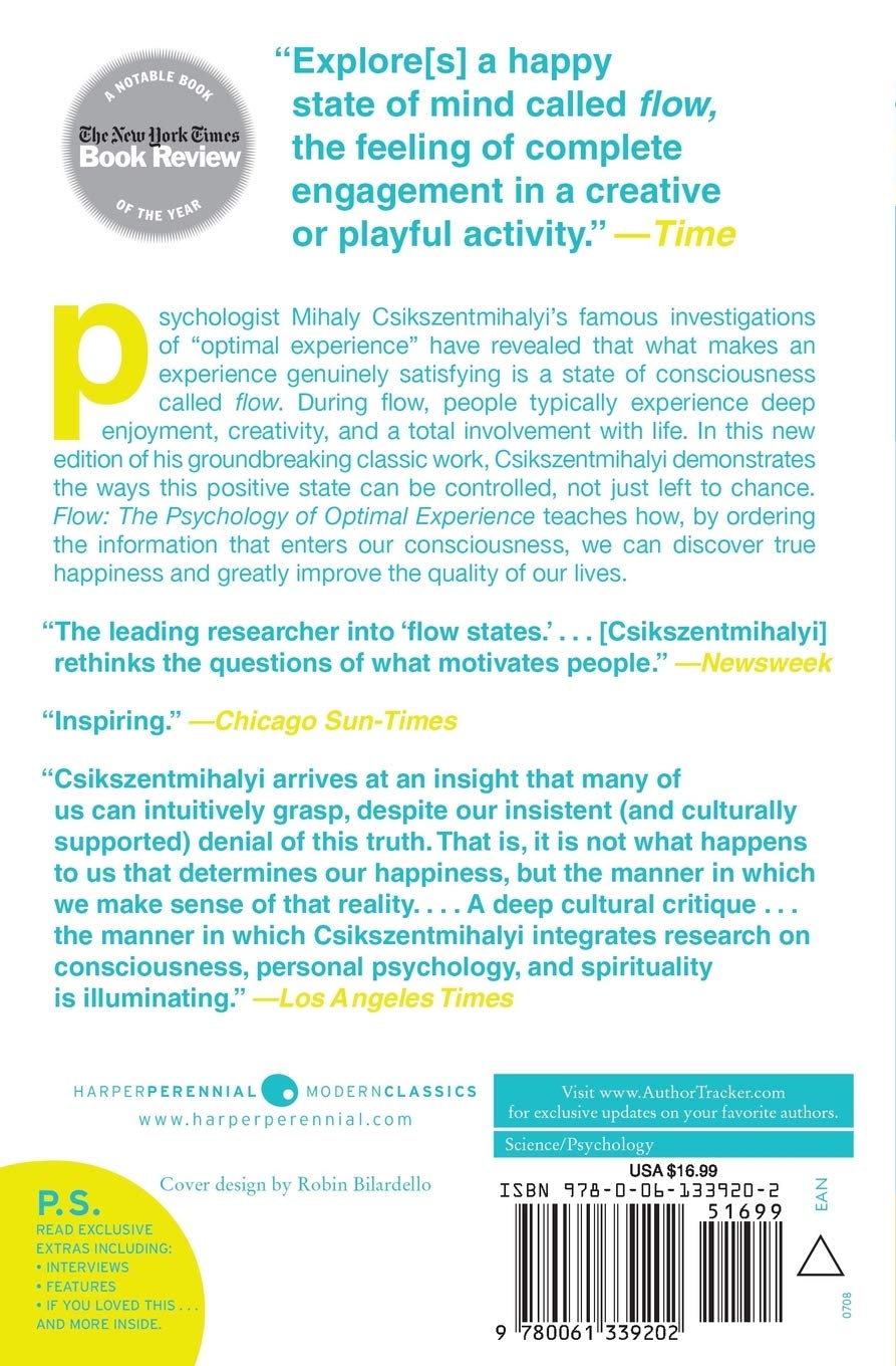 Flow: The Psychology of Optimal Experience (Harper Perennial
