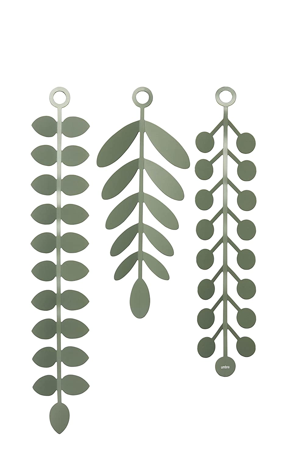 Umbra Vines Wall Decor - Wall Mounted Vines Wall Decor, Peel and Stick Wall Murals, Spruce 1009568-1095