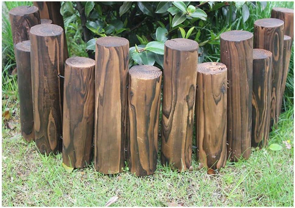 ZHANWEI Valla de jardín Madera Estaca Redonda Bordura de jardín Decorativo Al Aire Libre Césped Cama De Flores, 8 Tamaños (Color : 5pcs, Size : 90x40/50cm): Amazon.es: Jardín