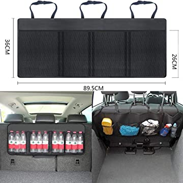 Muilek Car Back Seat Pockets Storage Bag, Auto Multi-Covers Organizer Storage Holder