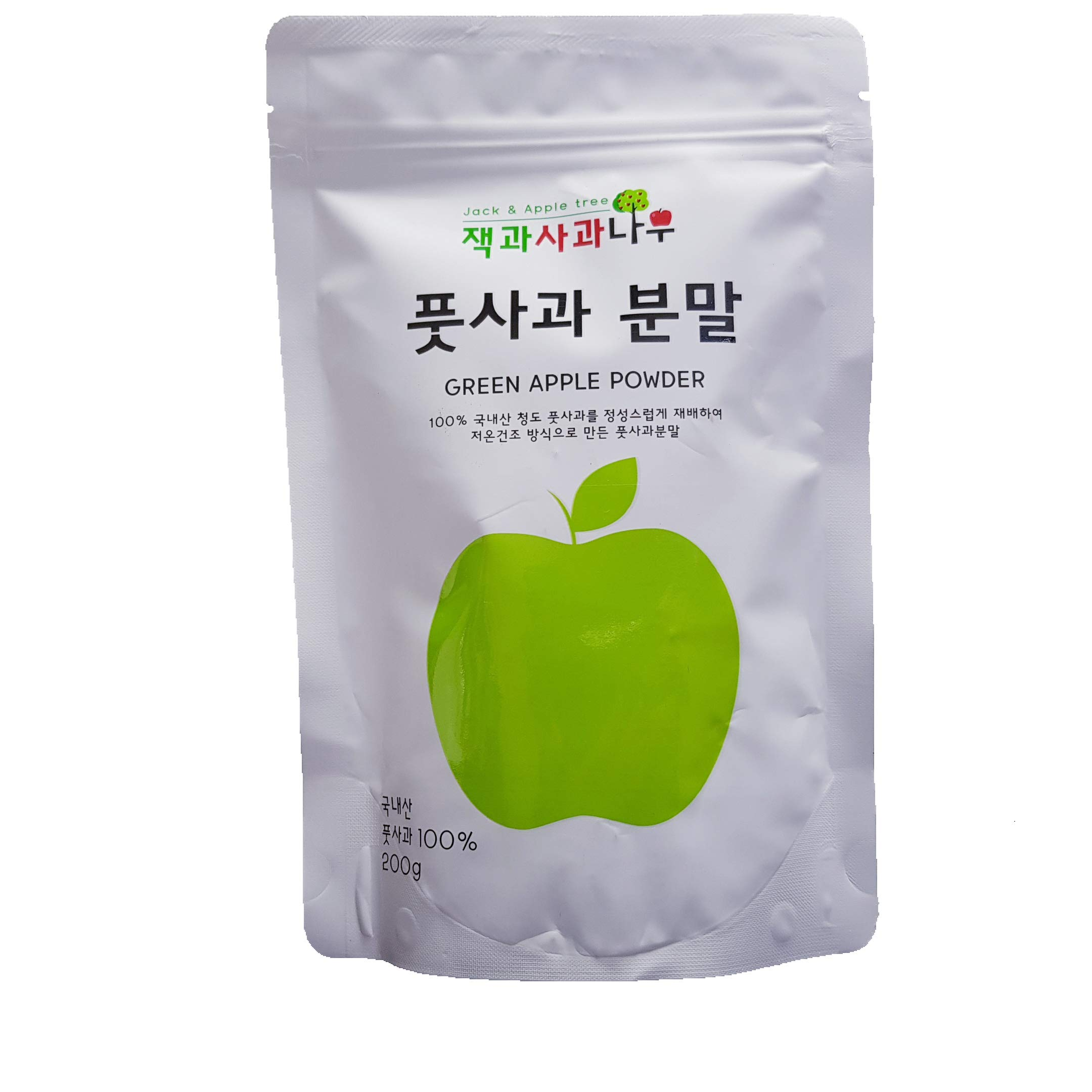 Korean Healthy Natural 100% Unripe Green Apple Extract Powder Kfood Mukbang 7.05oz Vitamin C Organic Gap Jack & Apple tree[ 풋사과 분말] by Jack & Apple tree