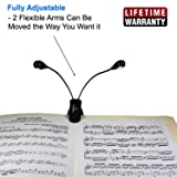Lumiens L2 - Music Stand Light Clip On Book Reading Lamp - 4LED, 4 Levels of Brightness - No Flicker, Fully Adjustable, - Also for Mixing Table, DJ, Orchestra Pits, Craft Work, Cool Light