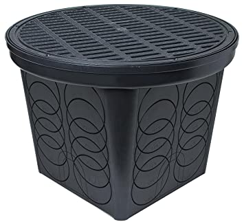 Large Round Catch Basin with Grate Kit  BlackStormDrain FSD 3017 20 in  Large Round Catch Basin with Grate Kit  . Outdoor Sump Pump Kit. Home Design Ideas