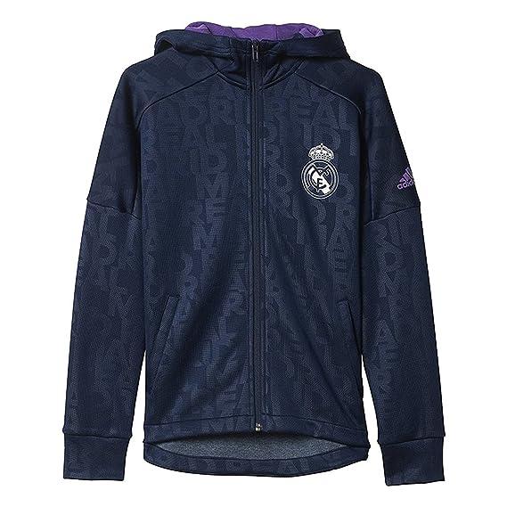 adidas Youth Real Madrid Full cierre de cremallera – Sudadera con Capucha  para Hombre b324d18fcbd84