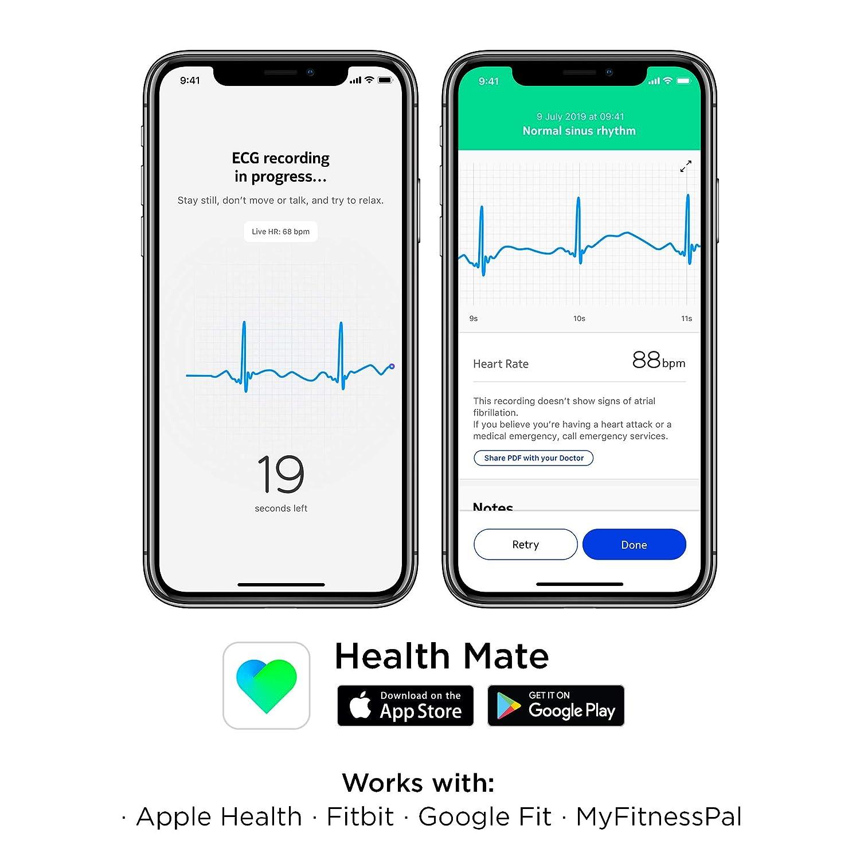 Withings Move ECG - Reloj híbrido inteligente con ECG, color azul