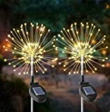 True Face Solar Powered 2 Pack Starburst Stake LED Lights