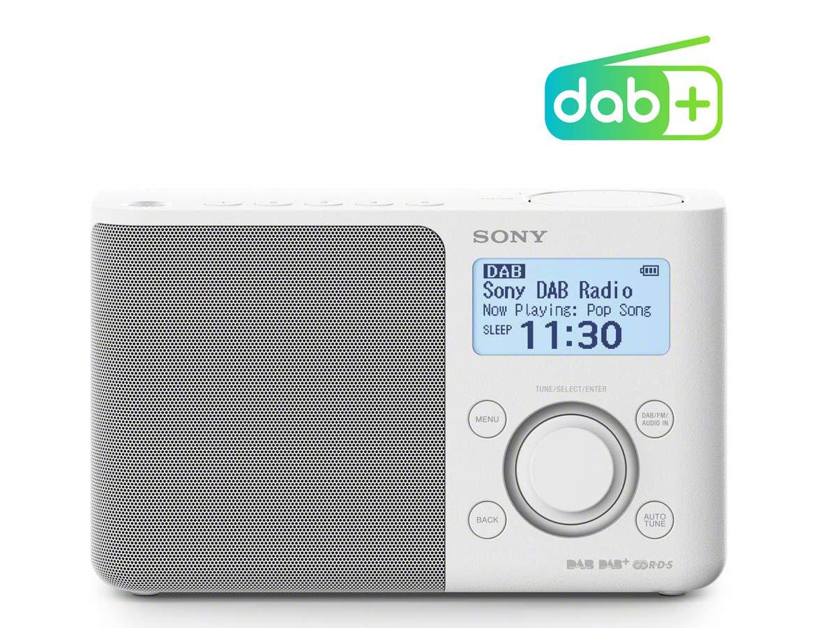 Sony XDR-S61D - Radio portátil (FM/Dab/Dab, 5 Botones presintonías Digitales y 5 analógicas, Pantalla LCD, Temporizador, Despertador) Color Blanco: ...