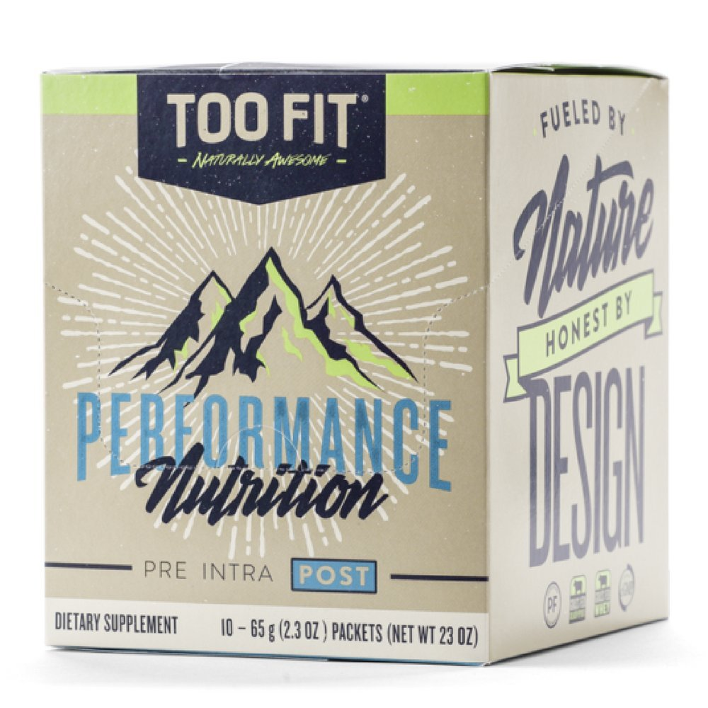 Too Fit ® POST | Natural Post Workout Recovery Supplement Drink Powder | Organic Grass Fed Whey Protein, Collagen Peptides, BCAA, L-Glutamine, MCT Oil Powder, Vanilla Cinnamon 10 Single Servings