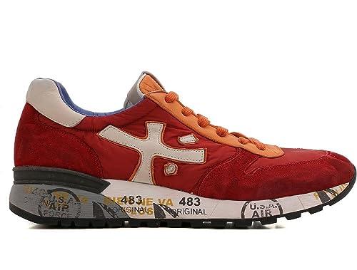 eb65c67cbe PREMIATA Scarpe Uomo Sneaker Mick_1273 Rosso Arancione Crema (41 EU ...