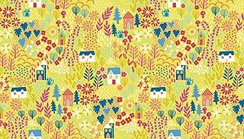 Cat telas – gatos jardín verde – mak642 – por 0,5 Metre – por