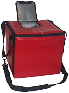 TCB Insulated Bags MB-HWK-Red Food and Beverage Carriers: Hawking Vending Bag with Dispensing Lid, 15.5