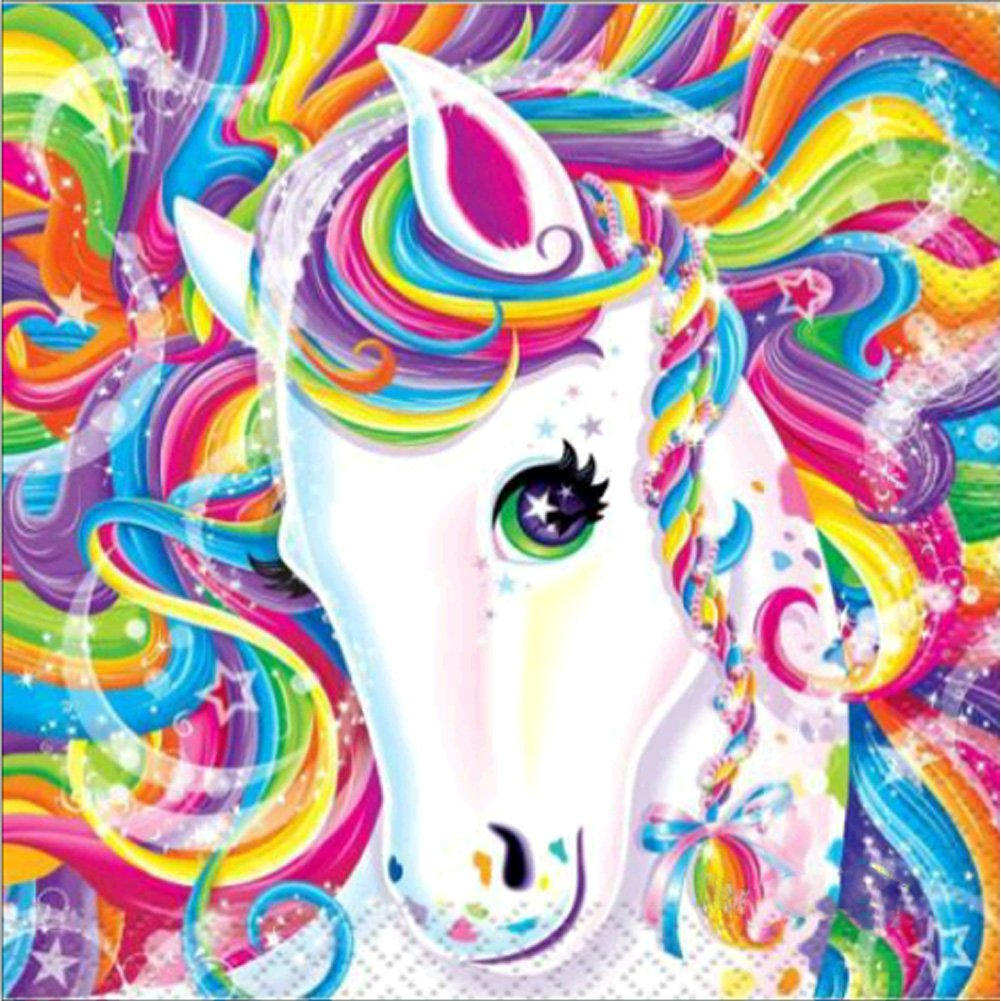 DIY 5D Diamond Painting Kits Full Drill Round Crystal Rhinestone Embroidery Pictures Arts Craft for Home Wall Decor Gift Color Unicorn 12x12in MXJSUA
