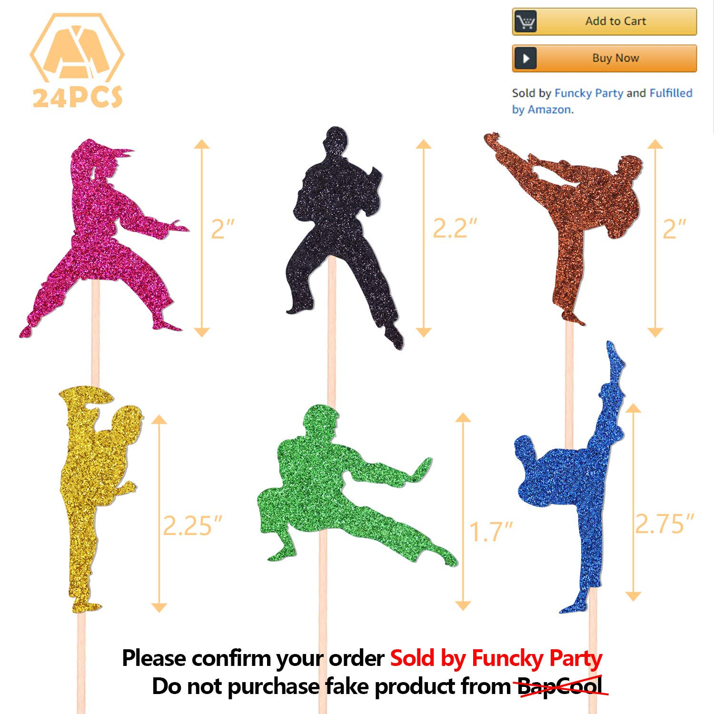 24 piezas de decoración para cupcakes de Karate Taekwondo ...