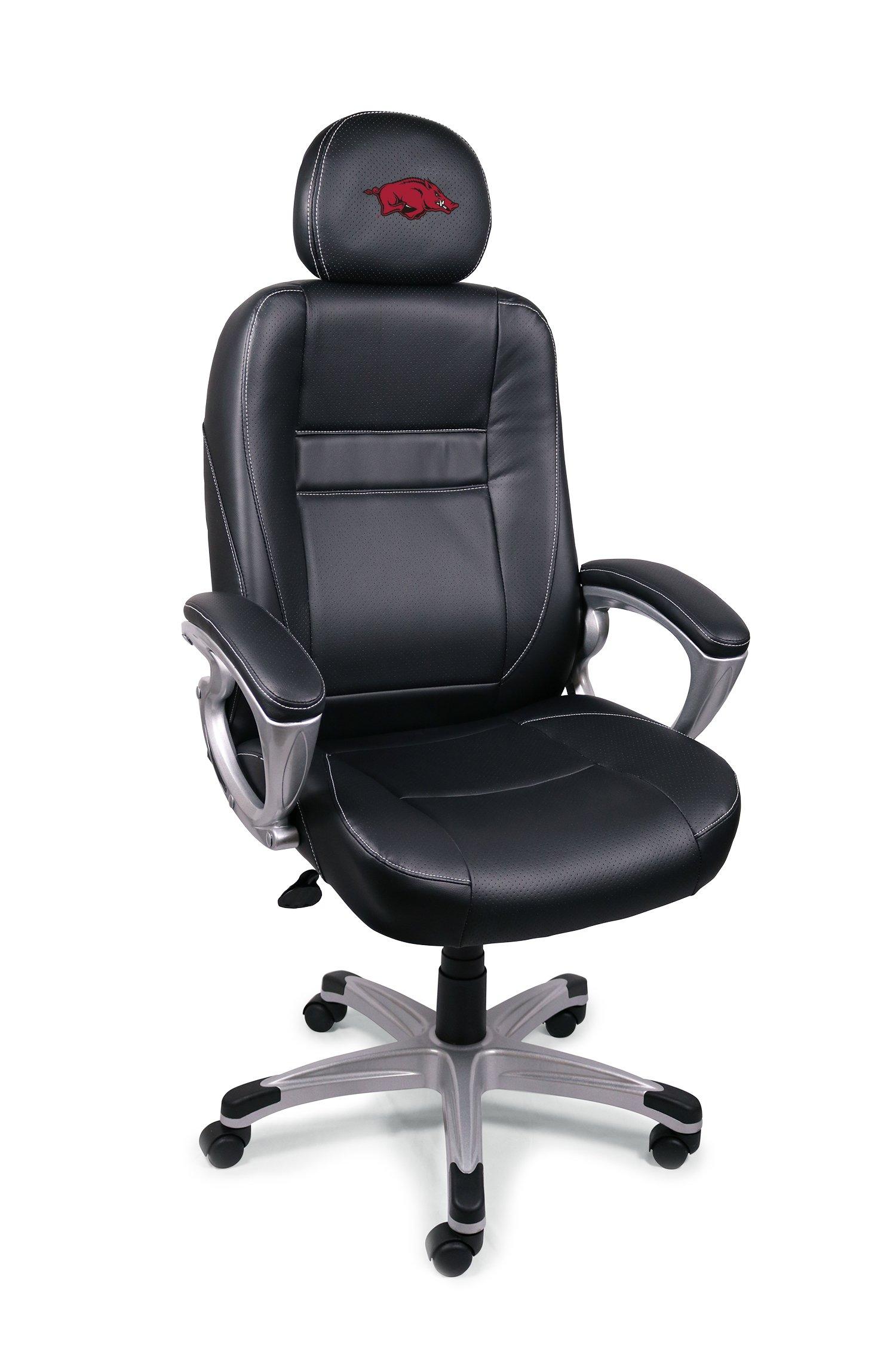 Wild Sports NCAA College Arkansas Razorbacks Leather Office Chair