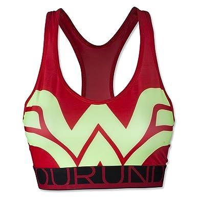 Under Armour Women s Alter Ego HeatGear Armour Wonder Woman Sports Bra  Medium RISK RED 170ff9a11