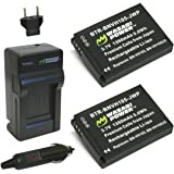 Wasabi Power Battery (2-Pack) and Charger for JVC BN-VH105 and JVC GC-XA1, GC-XA2 ADIXXION Action Camera