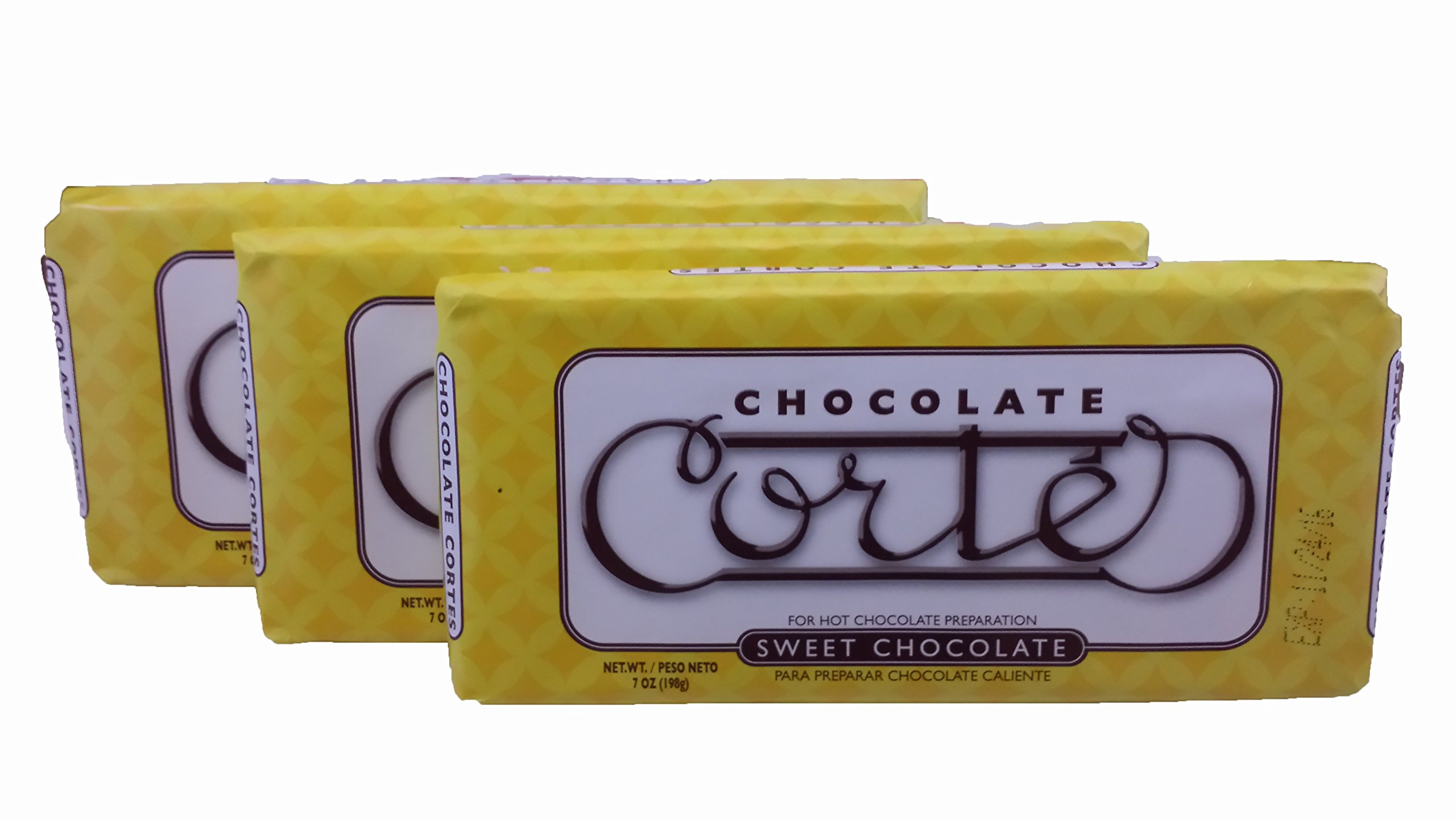 Cortes Sweet Chocolate for Hot Chocolate 7 Ounces 3 Pack Bundle