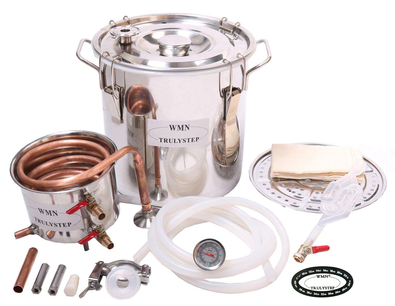 WMN_TRULYSTEP MSC03 Copper Alcohol Moonshine Ethanol Still Spirits Boiler Water Distiller, 20 Litres by WMN_TRULYSTEP (Image #4)