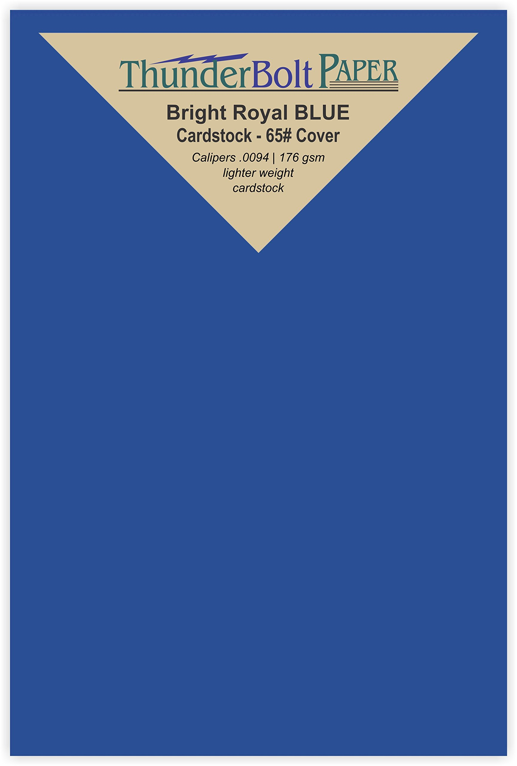 50 Bright Royal Blue 65# Cardstock Paper 4'' X 6'' (4X6 Inches) Photo|Card|Frame Size - 65Cover/45Bond Light Weight Card Stock - Bright Printable Smooth Paper Surface