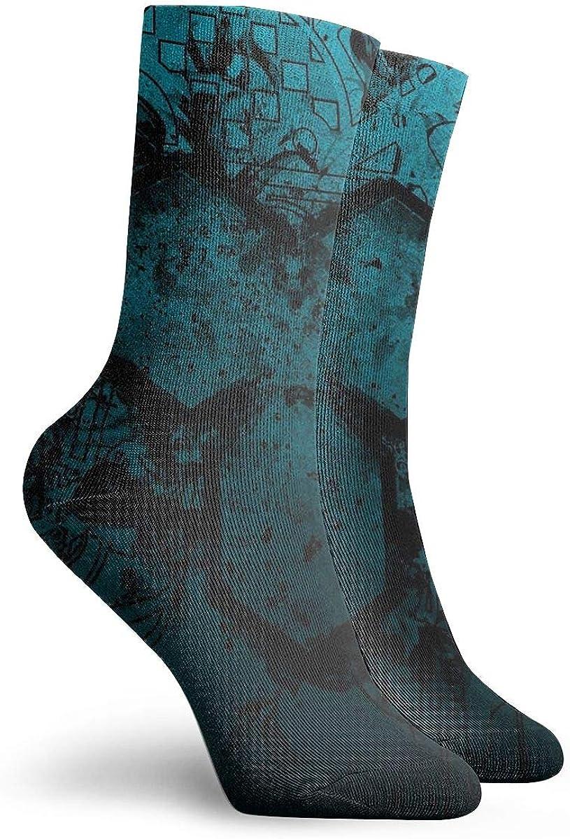 Unisex High Ankle Cushion Crew Socks Figure Stains Dirt Casual Sport Socks
