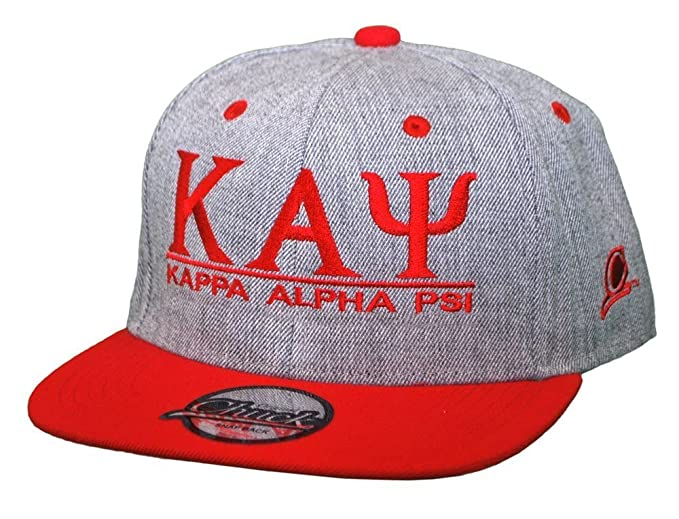 3a252c3c Greekgear Kappa Alpha Psi Flatbill Snapback Hats Original Heather/Red