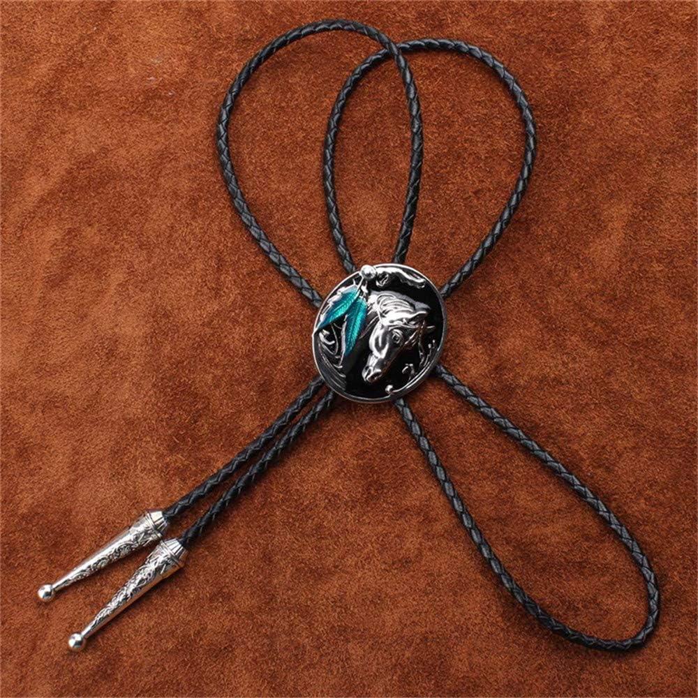 HIMONGOO Horse Head BOLO Tie for Men Bridegroom Wedding Necklace Vintage Western Cowboy