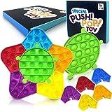 Push Pop Fidget Toy for Kids, 6 Pack Push Bubble Sensory Toys for Adult, Pop Sensory Toy for Autistic Children Adult Squeeze