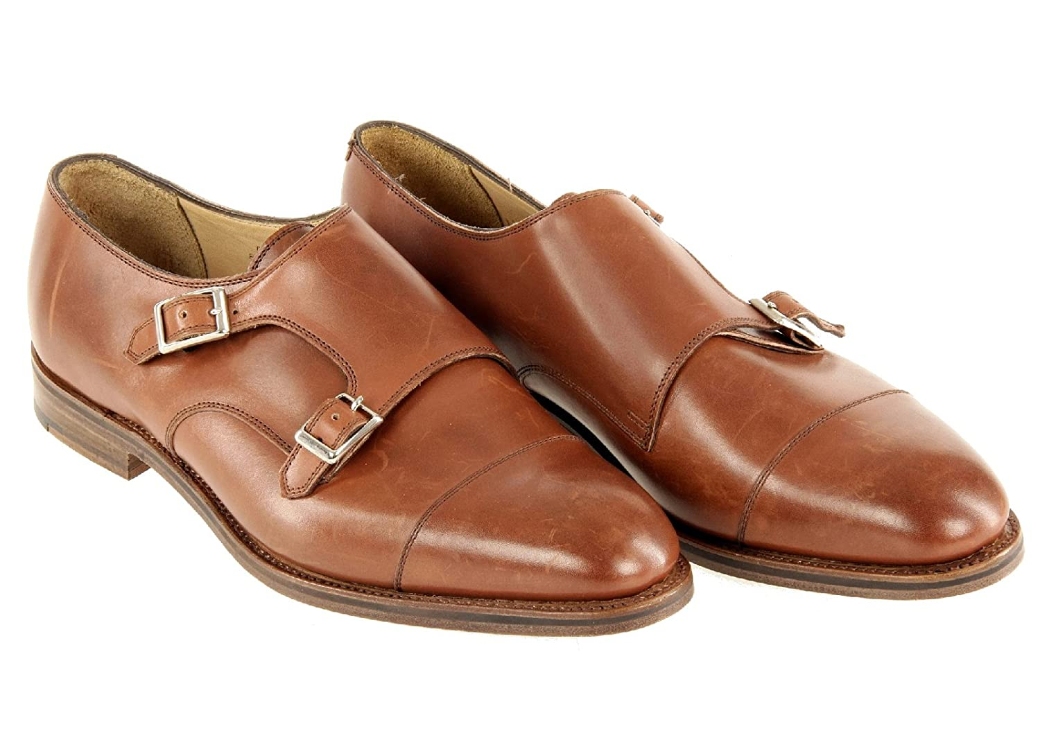 Alfred Sargent For J.Crew Double Monk Strap Shoes 10.5 Style 02801 Mahagony