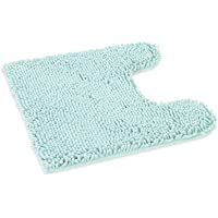 ITSOFT Non-Slip Shaggy Chenille Soft Microfibers Toilet Contour Bathroom Rug with Water Absorbent, Machine Washable, 21…