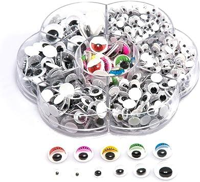 Black Mixed Wiggle Googly Eyes with Self-adhesive 700pcs Scrapbooking Hand Craft