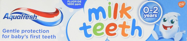 Pasta de Dientes de Leche Aquafresh para Niños de 0 a 2 Años 50ml