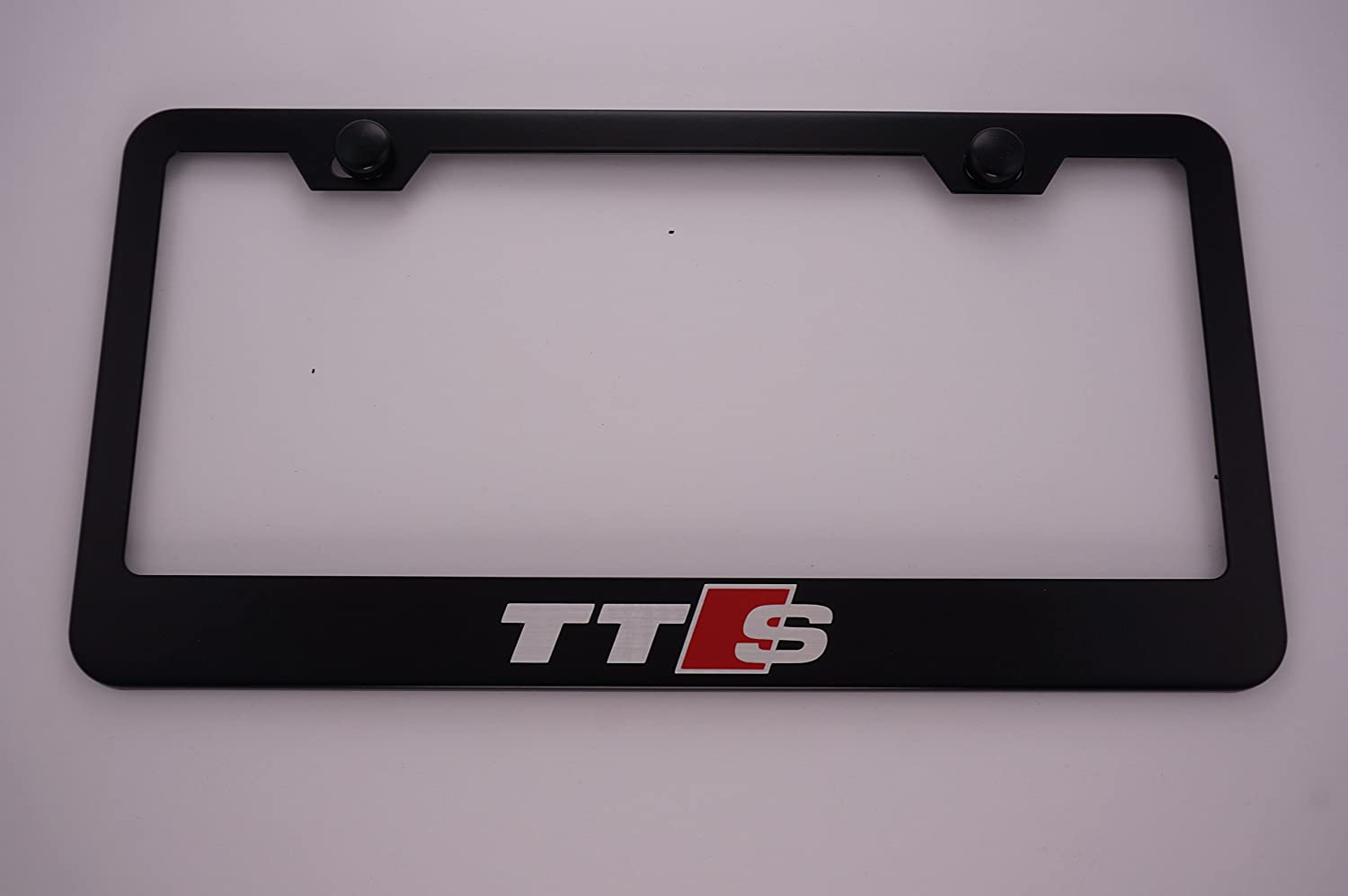 Audi Plate Frame >> Audi Tts Black License Plate Frame With Caps
