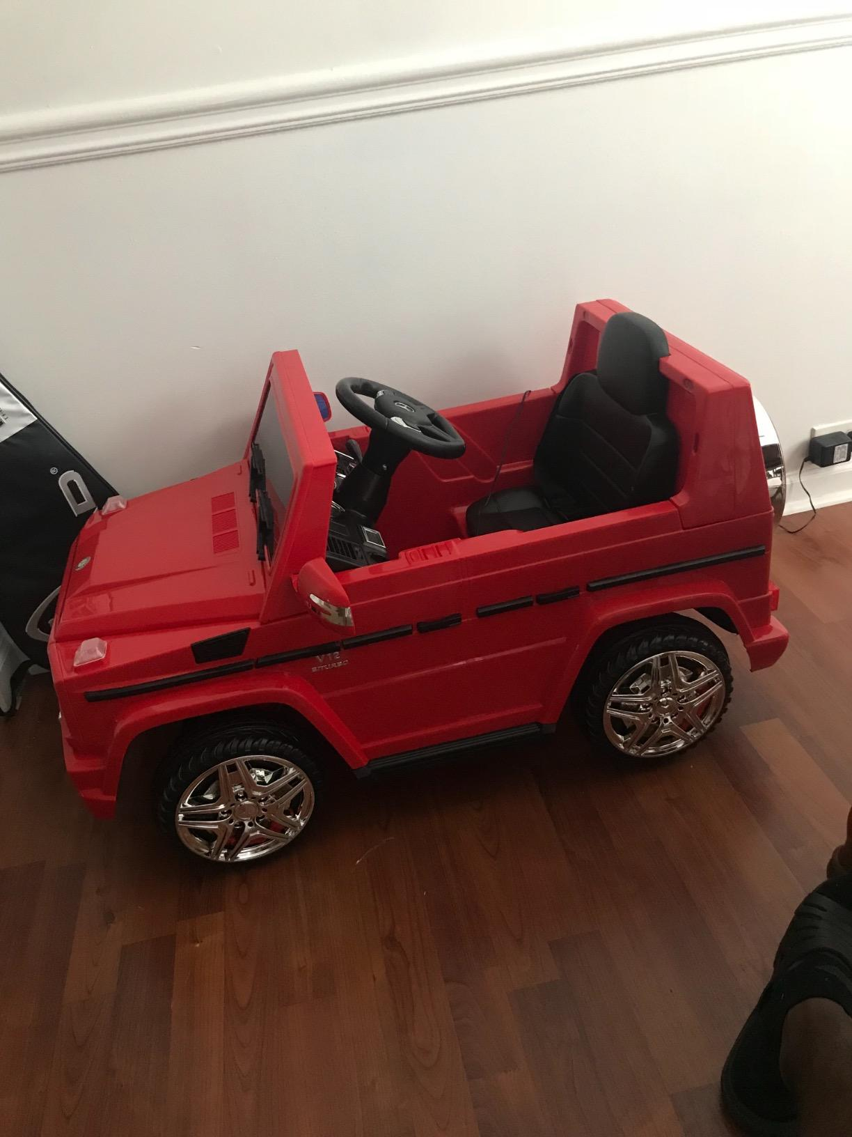 12V Licensed Mercedes Benz G65 Electric Ride on Car for Kids with Remote Control, Red photo review