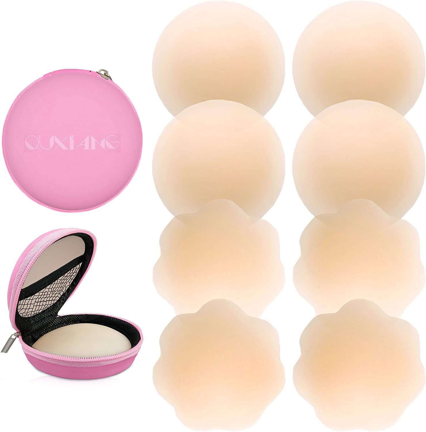 Nipple Covers Women Adhesive Nippleless Cover Reusable Silicone Pasties LOT