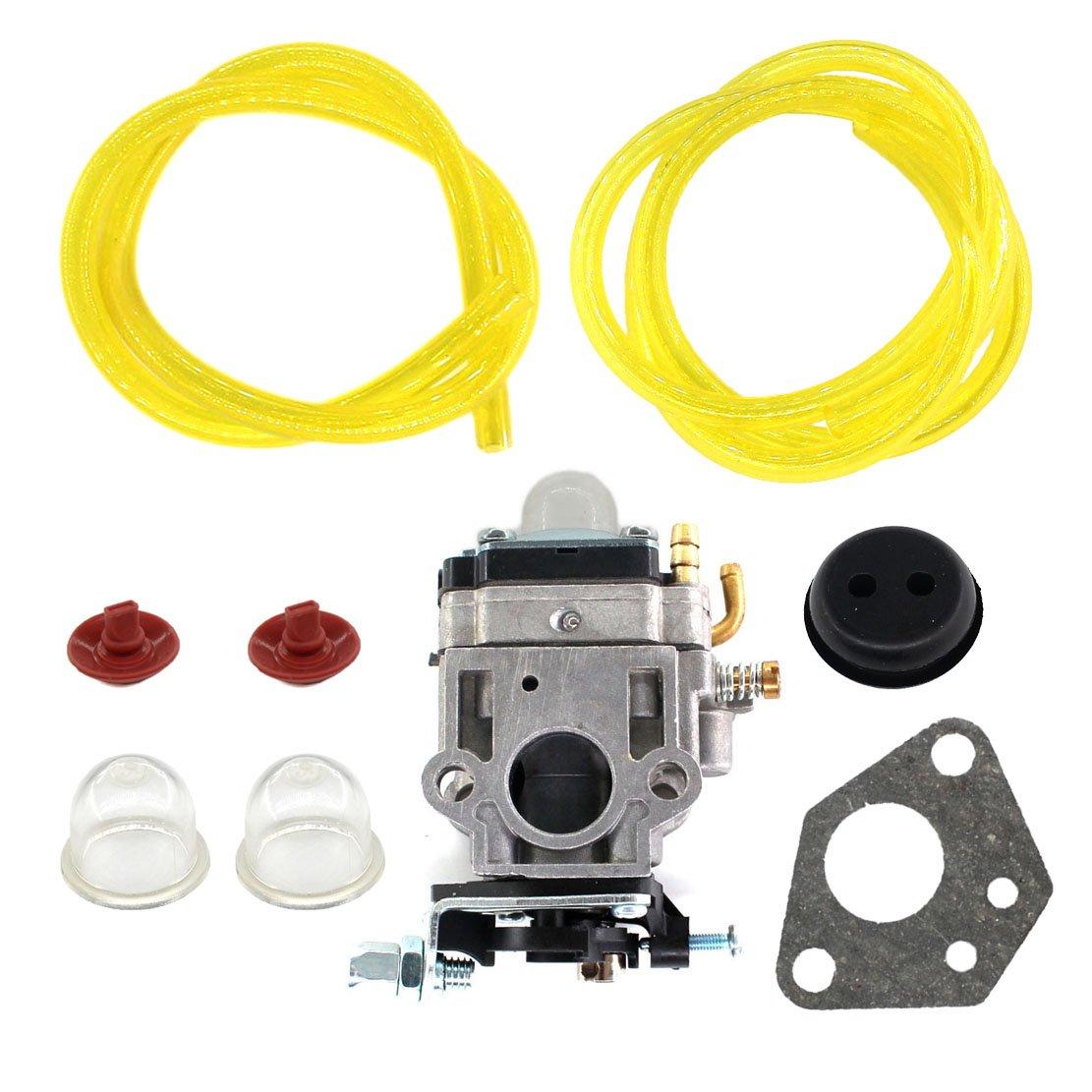 USPEEDA Carburetor & Gasket for Shindaiwa EB8510 EB8510RT Blower Carb A021002060 Grommet Check Valve Fuel Line