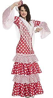 My Other Me Me - Disfraz de flamenca Rocío para mujer, color rojo, XL