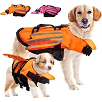 Coppthinktu Dog Life Jacket, Reflective Dog Life Vest for Outdoor Summer, Cute Angel Wing Dog Swimming Vest with Rescue…
