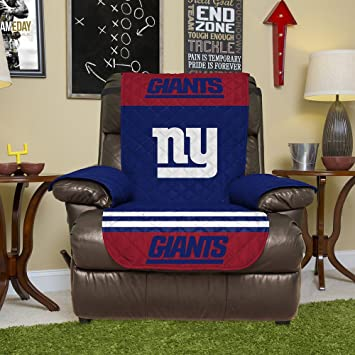 Good NFL New York Giants Recliner Reversible Furniture Protector With Elastic  Straps, 80 Inches By
